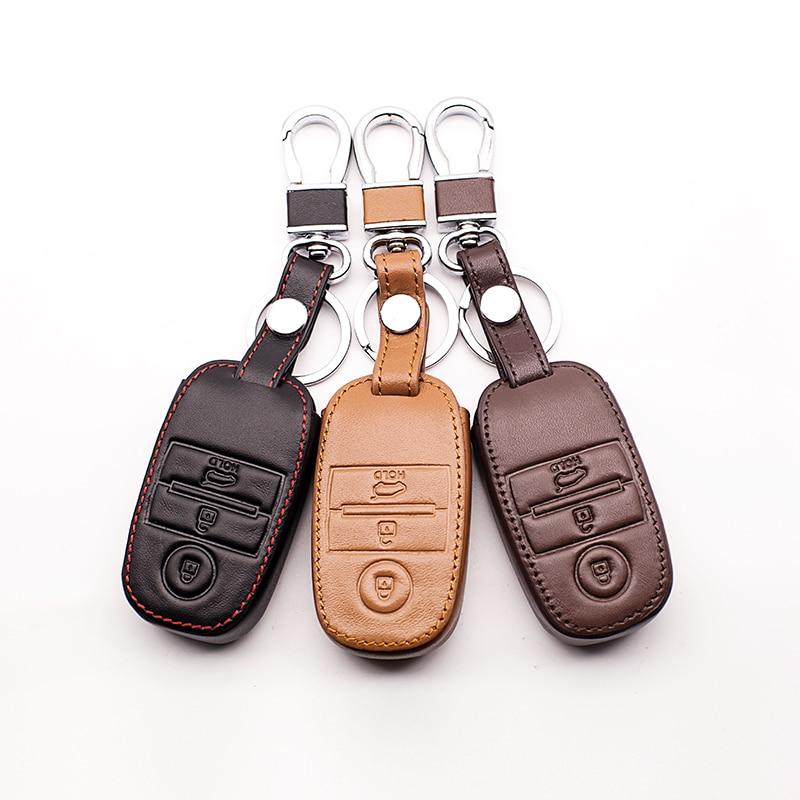 Car Style Leather Key Case Key Cover For Kia Rio K3 K3s