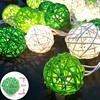 YIMIA 5cm Rattan Balls LED Lights String Holiday Christmas Lights Outdoor Garland Gerlyand For Party Wedding Baby Kid Room Decor discount