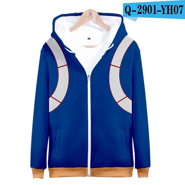 My hero academia hoodies izuku midoriya shouto todoroki boku no hero academia Cosplay Costume Sweatshirt boys girl Zipper Jacket 17