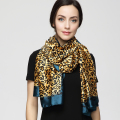 180cm*90cm Women 2017 New Fashion Euro Design Classical Brand Luxury Sexy Leopard Printed Long Silk Scarf Big Shawl YAU003