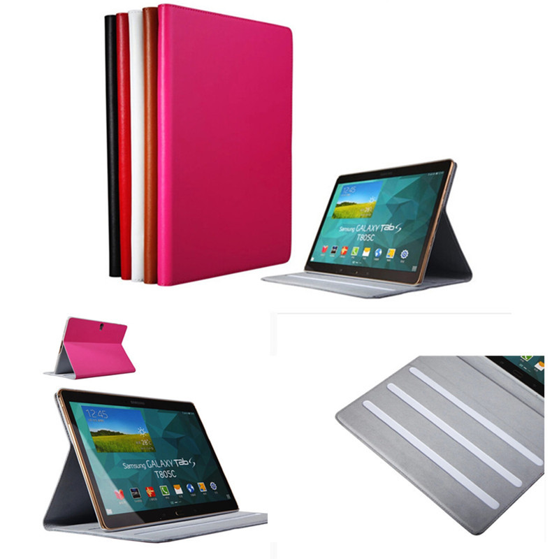 Ultra Thin Folio Flip Genuine Leather Stand Book Smart Cover Case For Samsung Galaxy Tab S 10.5 Inch T800 T805 T805C luxury flip stand case for samsung galaxy tab 3 10 1 p5200 p5210 p5220 tablet 10 1 inch pu leather protective cover for tab3