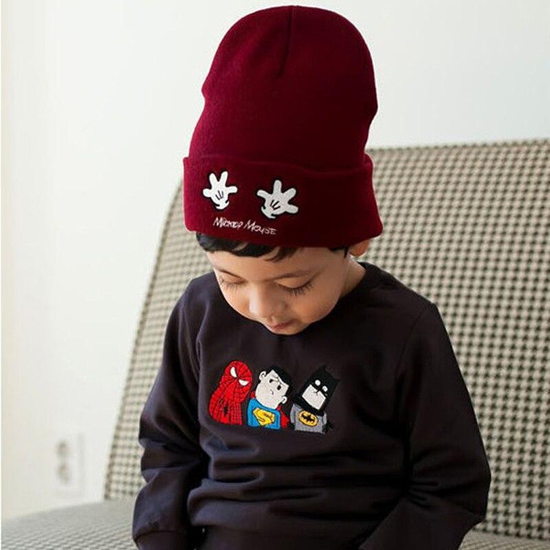 2019 Novi klobuki za otroke zimske kape za dečke z dvojno dlanjo vezene pletene dojenčke Beanie bonnet 4 barve
