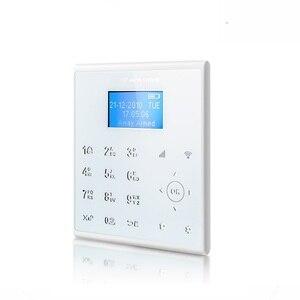 Image 2 - Freies Aliexpress Verschiffen 433MHZ Drahtlose WIFI Home Security Alarm System IOS/Android APP Fernbedienung Touch Tastatur SIM alarm