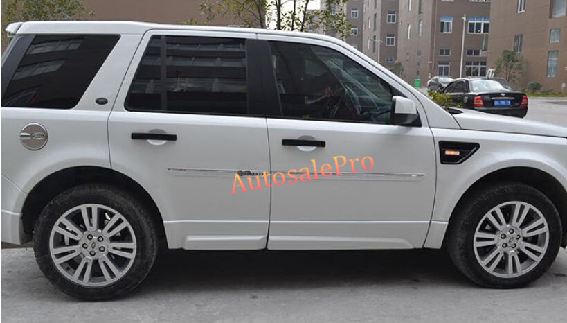 ABS Chrome Door Side Body Molding Bottom Trim For Land Rover Freelander 2 2008-2015 купить
