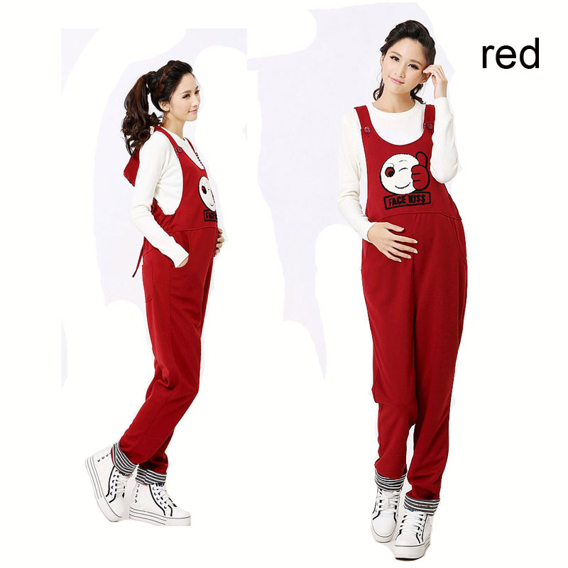 Casual Maternity Long Pants Pregnancy Overalls Jumpsuits Rompers Pregnant Women Cartoon Suspender Mum Clothes Mommy Clothing boy