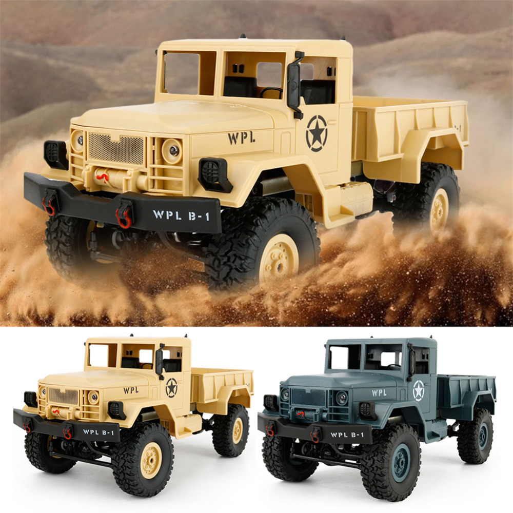 WPL B-1 Military Truck Four-Wheel Drive Off-Road Climbing Car Model 1:16 DIY Version Without Batteries Refitted Toy for Children men original leather fashion travel university college school book bag designer male backpack daypack student laptop bag 9950