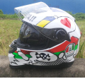MALUSHUN Motorcycle Full Face Helmet Double Lens Motocicleta Casco Capacetes DOT Approved white