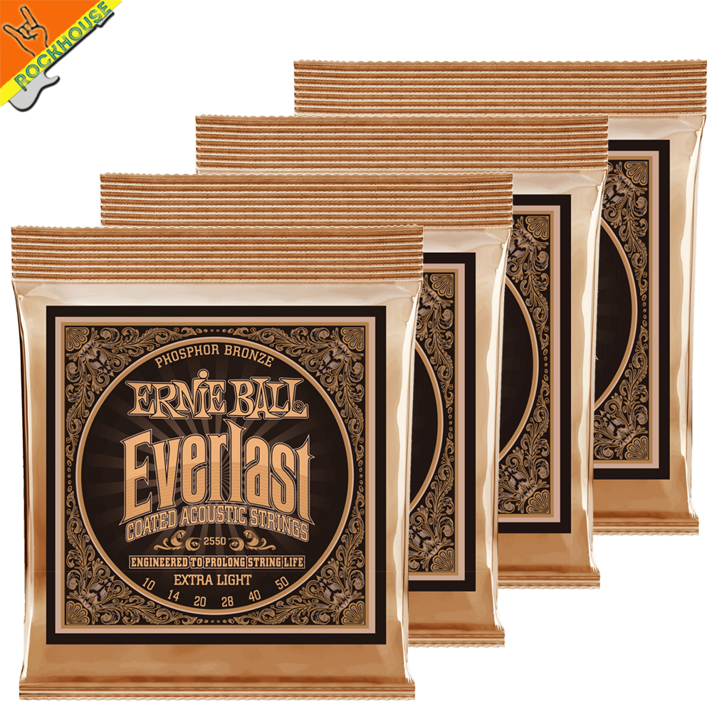 Ernie Ball High-end Everlast Coated Acoustic Guitar Strings Phosphor Bronze Medium Light Guitar String Made in USA Free Shipping d addario exp16 american made coated phosphor bronze acoustic guitar strings light 12 53