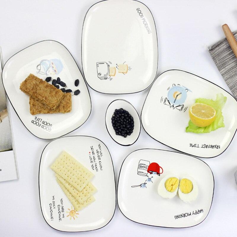 Прямоугольная керамическая тарелка для тортов Boreal, европейский стиль dessert dish ceramic dishplate dish   АлиЭкспресс