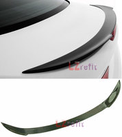 V Style Real Carbon Fiber Rear Trunk Spoiler For BMW F13 F06 6 Series Coupe & Gran Coupe 2012UP