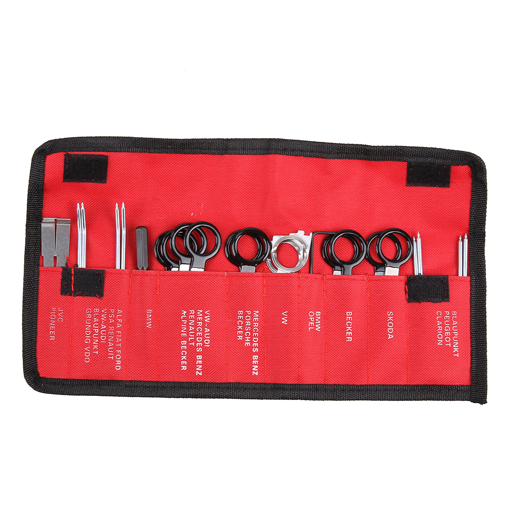 20Pcs Portable Auto Car Radio Panel Door Clip Panel Trim Dash Audio Removal Installer Pry Kit Repair Tool Pry Tool Hand Tools removal plier trim clip carbon steel pliers auto repair tools trim panel clip removal plastic rivets buckle clamp hand tool