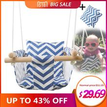 Безопасность детский сад детские брезентовые качели висячие стул деревянный Крытый небольшой качающаяся корзина кресло-качалка с подушкой