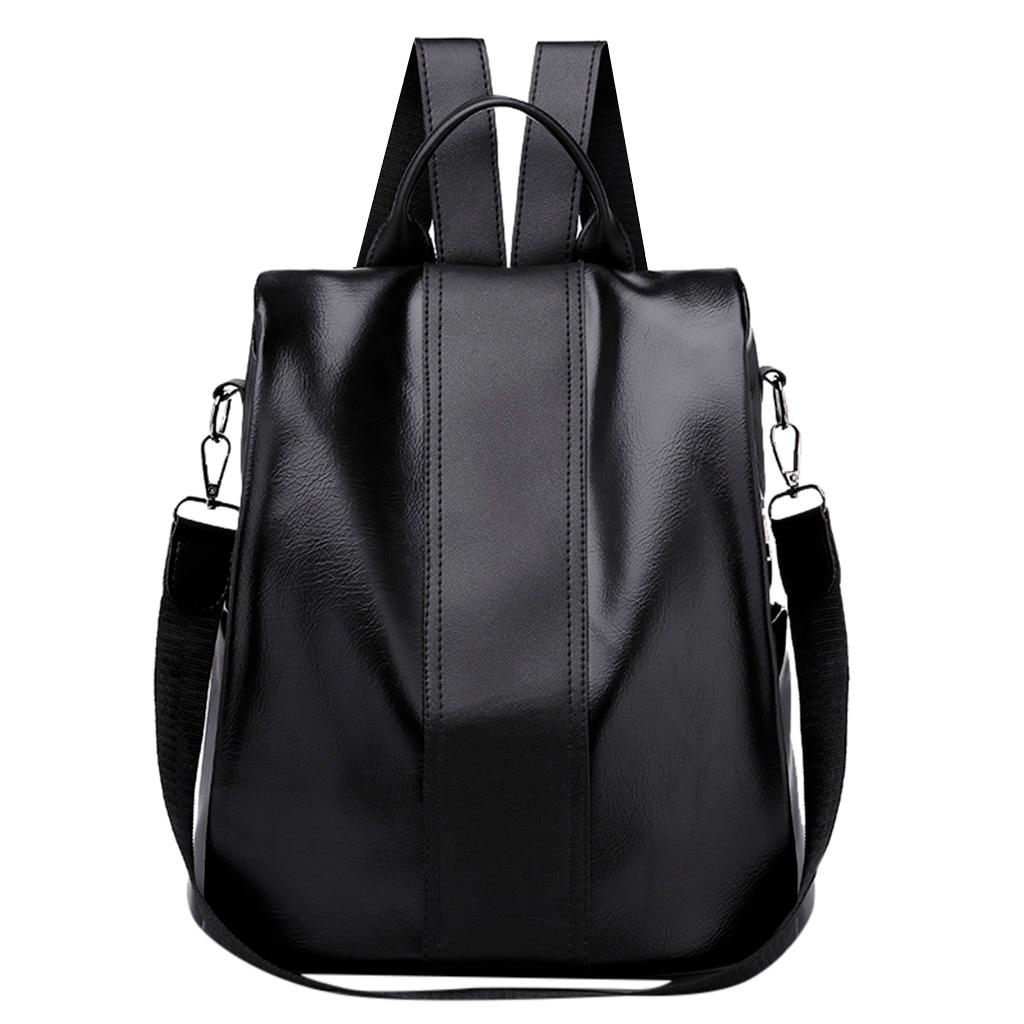 Womens Backpack Fashion Solid Color Backpack Anti-Theft Bag Wild Shoulder Bag Waterproof Mochilas Mujer SacWomens Backpack Fashion Solid Color Backpack Anti-Theft Bag Wild Shoulder Bag Waterproof Mochilas Mujer Sac