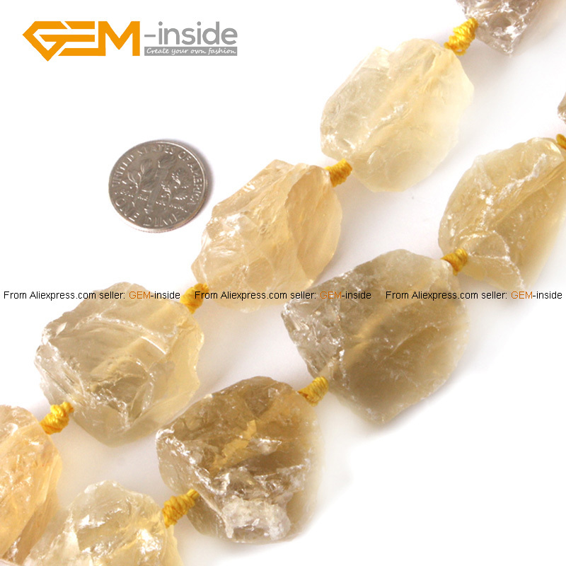 Gem-inside Natural Large Beads Freeform Crude Fluorite Stone Beads For Jewelry Making Be ...