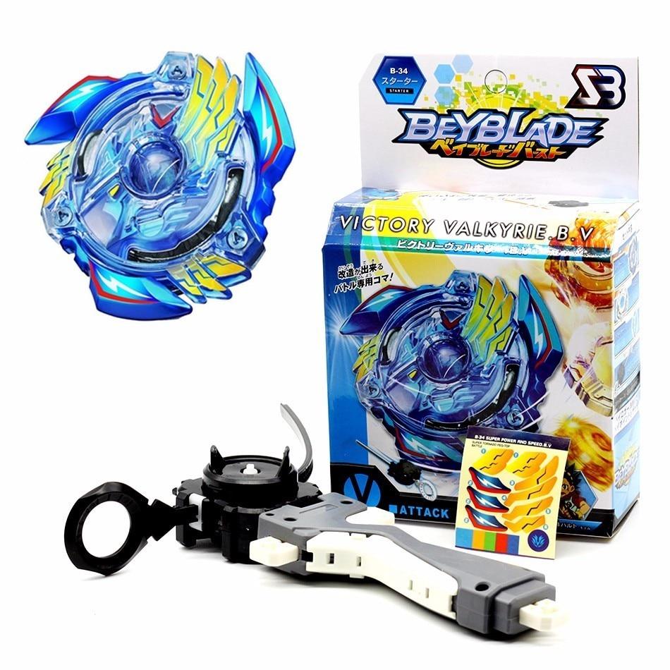 B-104 Beyblade Burst Starter Toy Bayblade Top Grip Launcher Kids Birthday Gift