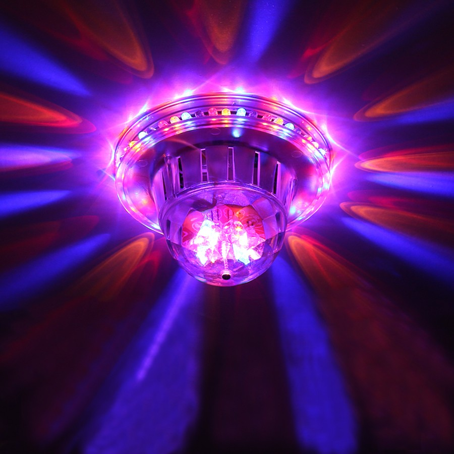 Crystal Rotating Party Light Mini Auto Sound Activated RGB Stage Lamp For KTV Xmas Party Wedding Show Pub Disco