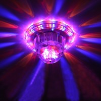 Tanbaby Auto Sound Activated LED Stage Light Mini Crystal Rotating RGB Stage Lamp For KTV Xmas