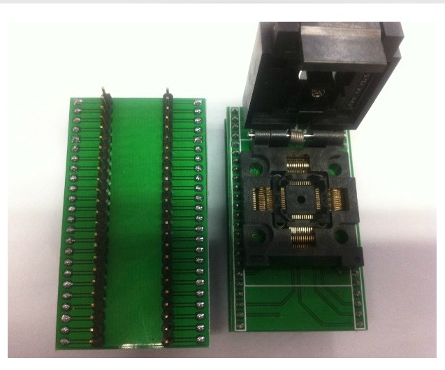 Free Shipping       Gold Import IC Test Adapter TQFP48 SA248A Burning DIP48/QFP48 Conversion Seat