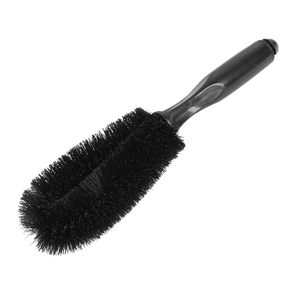 Black Truck Car Auto Wheel Tire Rim Brush Wash Cleaning Tool 10.6 Long