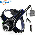 ZK30 Led Headlamp Cree XM-L T6 3800LM Flashlight Head Light Adjustable Focus Fishing Light Rechargeable torch +2* Charger