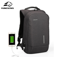Kingsons New Arrival Anti Theft USB Charging Men 13 6 15 6 Inch Casual Laptop Backpack