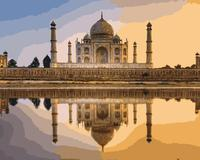 MaHuaf I856 Taj Mahal In India Painting By Numbers Landscape DIY Oil Digital Canvas Painting Wall