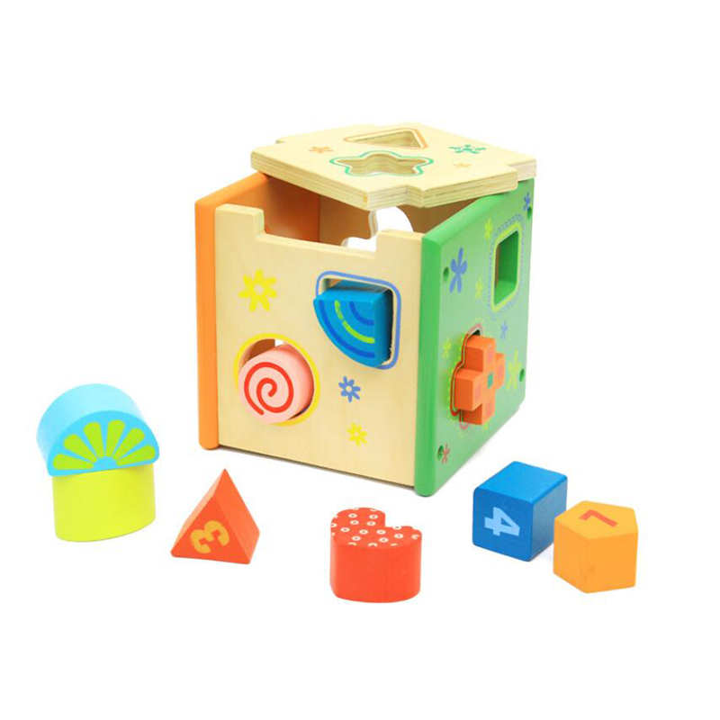Puzzle Games Color Shape Cognitive Matching Learning Education Toys Wooden Intelligence Geometric Shape Box For Children