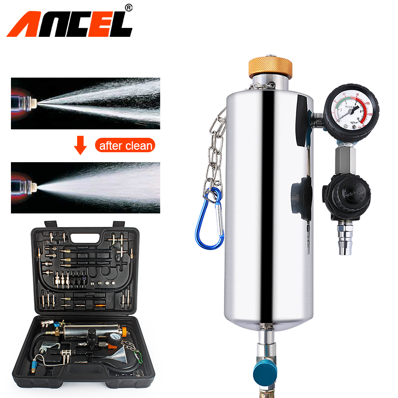Ancel GX100 Auto Car Fuel Injector Cleaner Kit Non-Dismantle Automotive Fuel Injector Washing Tool Car Fuel Injector Test System все цены