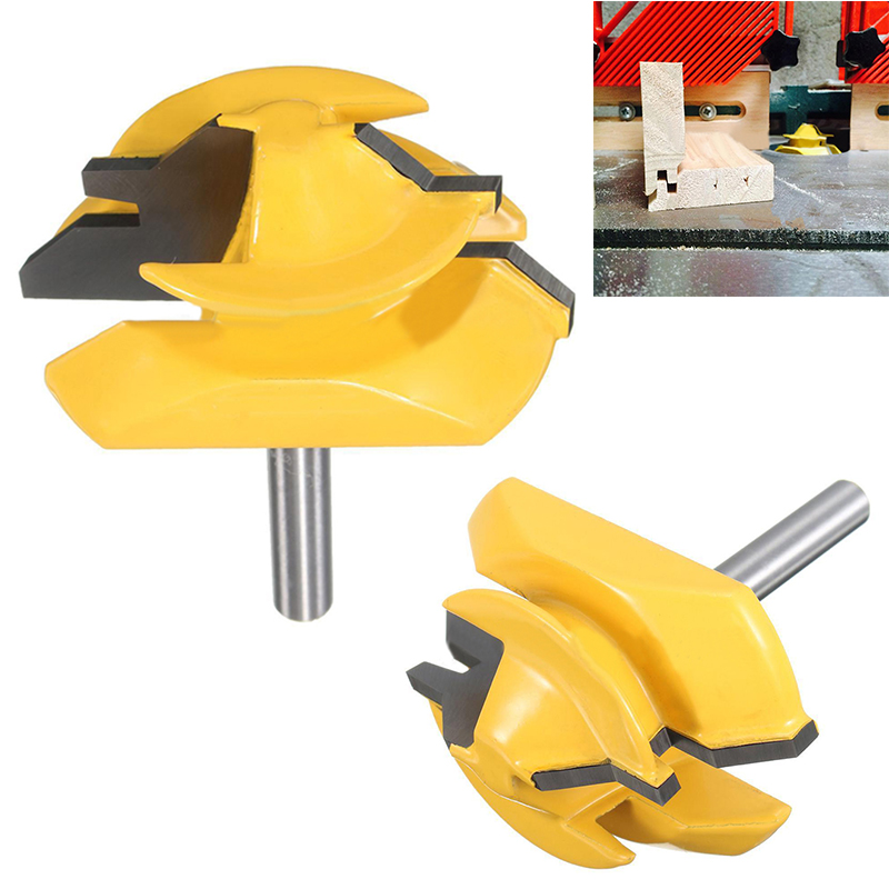 1pc 1/4 Shank Lock Miter Router Bit 45 Degree Carbon Steel Tenon Woodworking Cutter For Power Tool 2pcs 1 2 shank lock miter router bit tenon milling cutter for woodworking cutter tool cutting tools tenon cutter