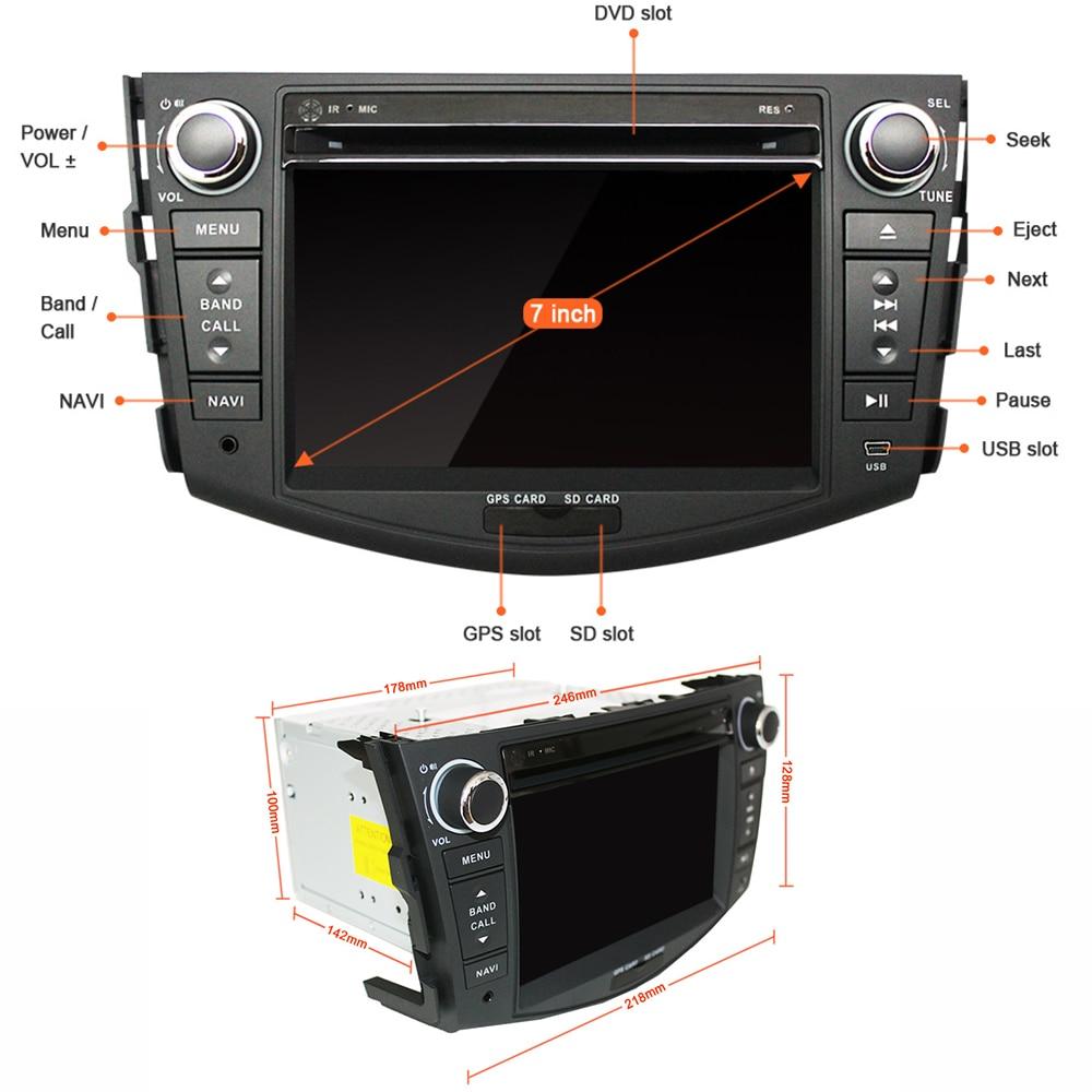 Image 5 - Eunavi Android 9.1 TDA7851 car dvd multimedia player 7'' 2 Din radio GPS Navi for Toyota RAV4 Rav 4 2007 2008 2009 2010 2011-in Car Multimedia Player from Automobiles & Motorcycles