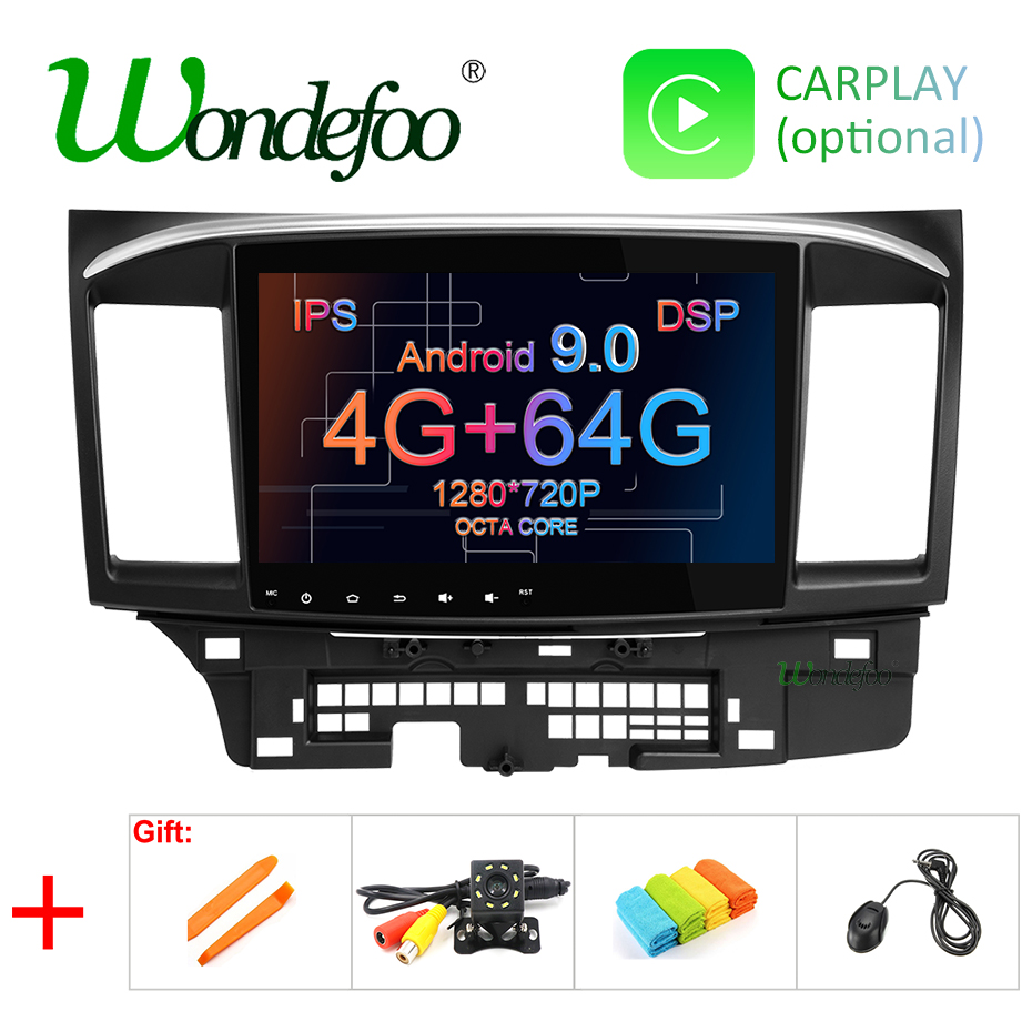 10 1 DSP IPS screen RAM 4G 64G Android 9 0 2 din GPS For MITSUBISHI