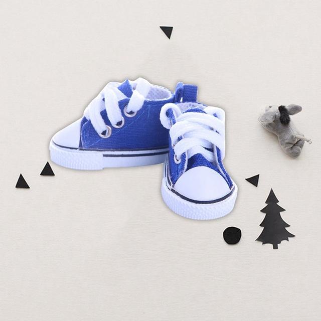 5 Colors Fashion Denim Canvas Mini Shoes For 14.5 Inch Doll