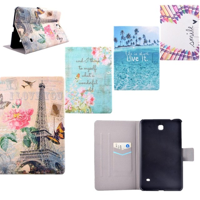 US $6 34 44% OFF|For Samsung Galaxy Tab 4 7 0 SM T230NU T231SM T235 T237  T230 Cover Android PC PU Leather Flip Folio Stand For Samsung T230 Case-in