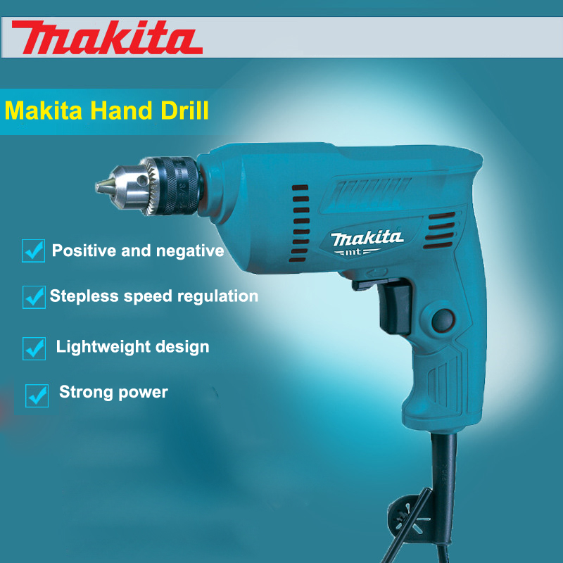New Makita Hand Drill M0600B Positive And negative Stepless Speed Regulation Lightweight Design Strong Power House Pistoldrill электродрель makita m0600b