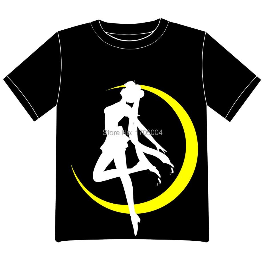 Free Shipping Anime Manga font b Sailor b font font b Moon b font T shirt