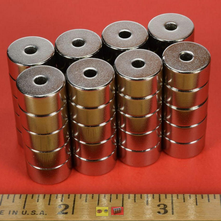 NdFeB Magnet Ring R824 OD 1/2x1/8x1/4 12.7x3.18x6.35mm Strong Neodymium Permanent Magnets Rare Earth Magnets NiCuNi Plated strong 1 2 1 5 1 8