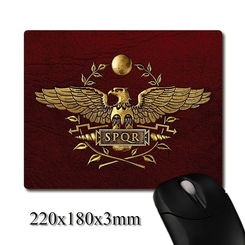 The First Roman Legion Eagle Flag Image Printed Heavy Weaving Anti-slip Rubber Pad Office Mouse Pad Coaster Party Favor Gifts