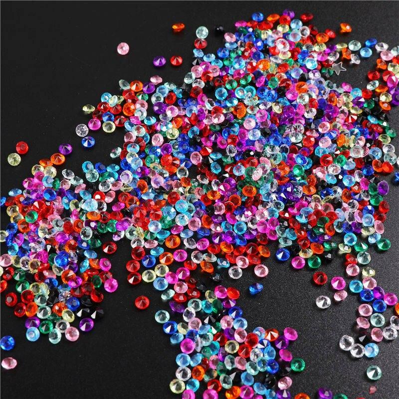1000 шт 3,8 мм акриловое конфетти с бриллиантами для свадебной вечеринки, праздничное украшение, прозрачные кристаллы, украшение для рукоделия, 62463