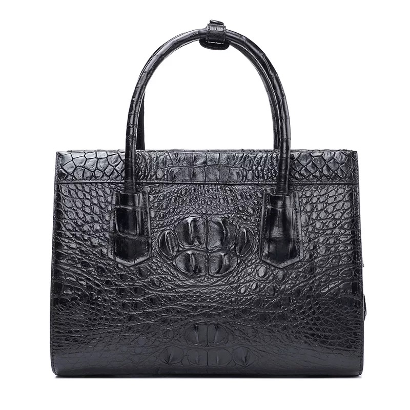 купить Classical Designer Genuine Alligator Crocodile Leather Zipper Closure Women Burgundy Totes Bag Lady Shoulder Bag Female Handbag по цене 31322.58 рублей