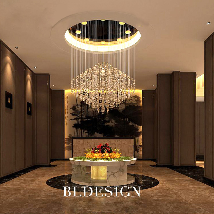 Large Round Foyer Light : New modern luxury chandeliers lighting round design