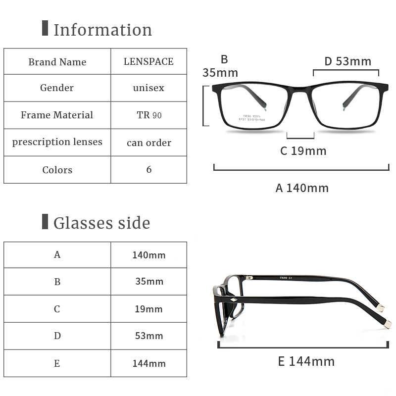 Оптическая оправа для очков TR90, мужские ретро очки для близорукости, квадратные дизайнерские оправы для очков для мужчин #6137