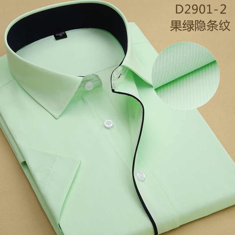 男性半袖シャツカジュアル新デザイン純粋な白正式なビジネスドレスシャツ社会男性の白シャツ男性のための服