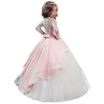 Novo 2019 Vestido de Verão Meninas Vestido de Manga Longa Do Vestido de Casamento Para A Roupa Das Meninas Crianças Traje Festa de Carnaval Princesa 10 12 ano