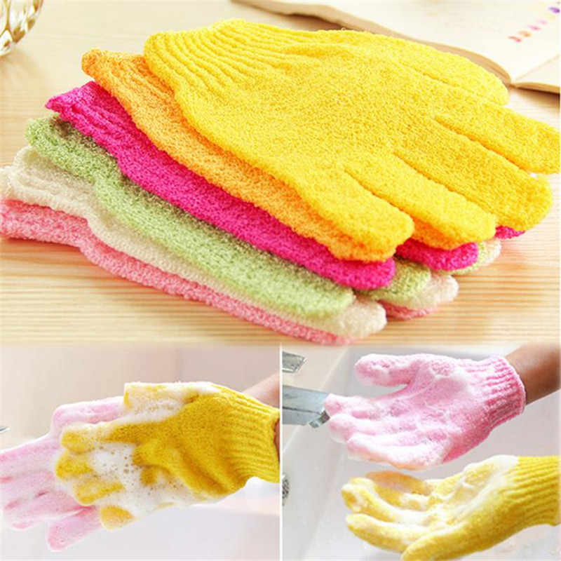 1 PCS Bath Gloves Shower Scrubber Scrub Back exfoliating Skid resistance Body Massage Sponge Bath Glove Wash Skin Spa Foam
