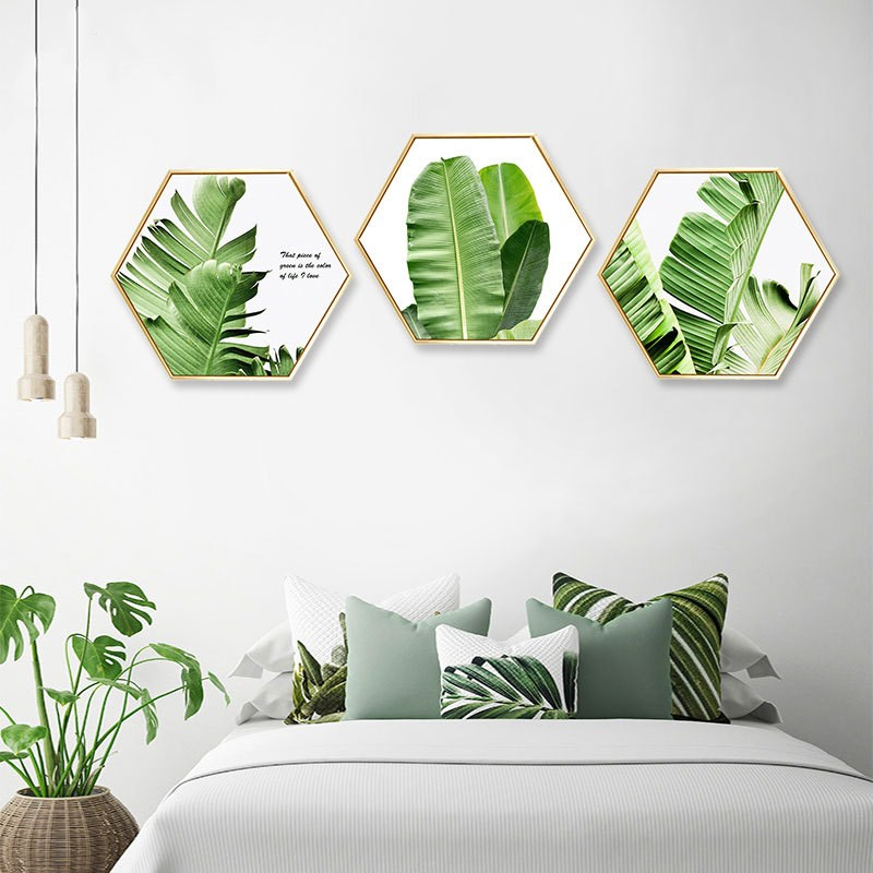 Creative plants abstract bedroom wall painting living room background corridor mural Hotel decorative