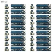 18pcs Premium Quality 60cm PCI e Express 1x to 16x Extender Riser Card with SATA Power