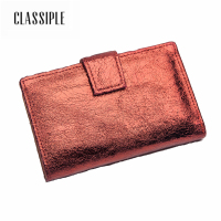 Fashion Short Women Wallet Female Soft Sheepskin Solid Red Zipper Lady Mini Card Holder Wallet Female Credit Card Coin Purse