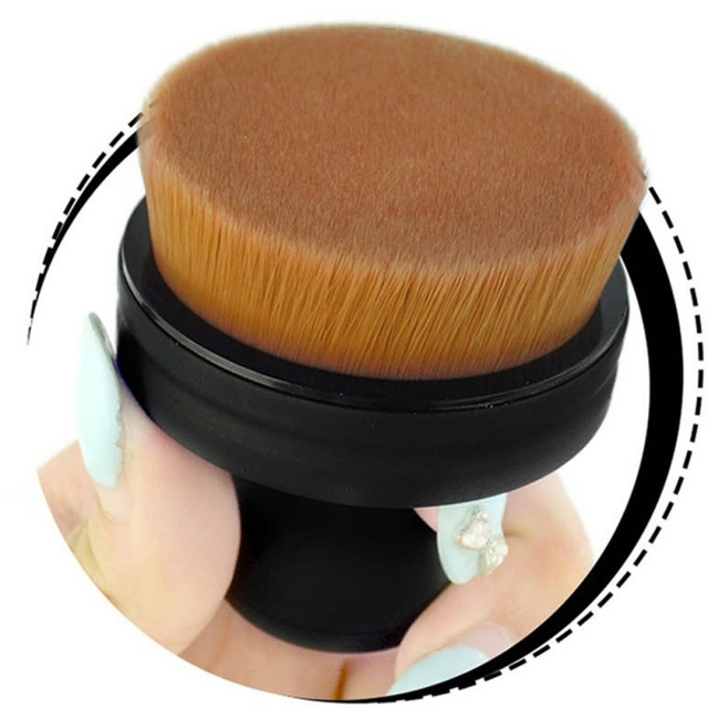 Push-pull maquillaje O círculo diseño 35 Micro fina único Cepillo de polvo de sello cepillo cara maquillaje herramientas