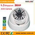 1.3 Megapixel 960 P CMOS Plastic Dome AHD Câmera com 48 pcs IR Leds, 3.6mm Lente Da câmera do CCTV deve trabalhar com suporte AHD DVR 960 P
