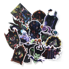 17 Pcs/set DMLSKY Maleficent Cartoon PVC Scrapbooking for Car Luggage Laptop Decal Home Bedroom Diy Decoration M3315